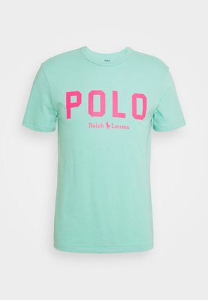 T-Shirt print - light green/neon pink
