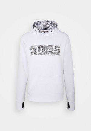 LEAF HOODIE - Sweatshirt - white