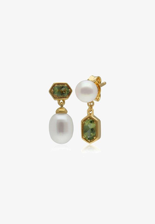 PEARL & PERIDOT - Earrings - green