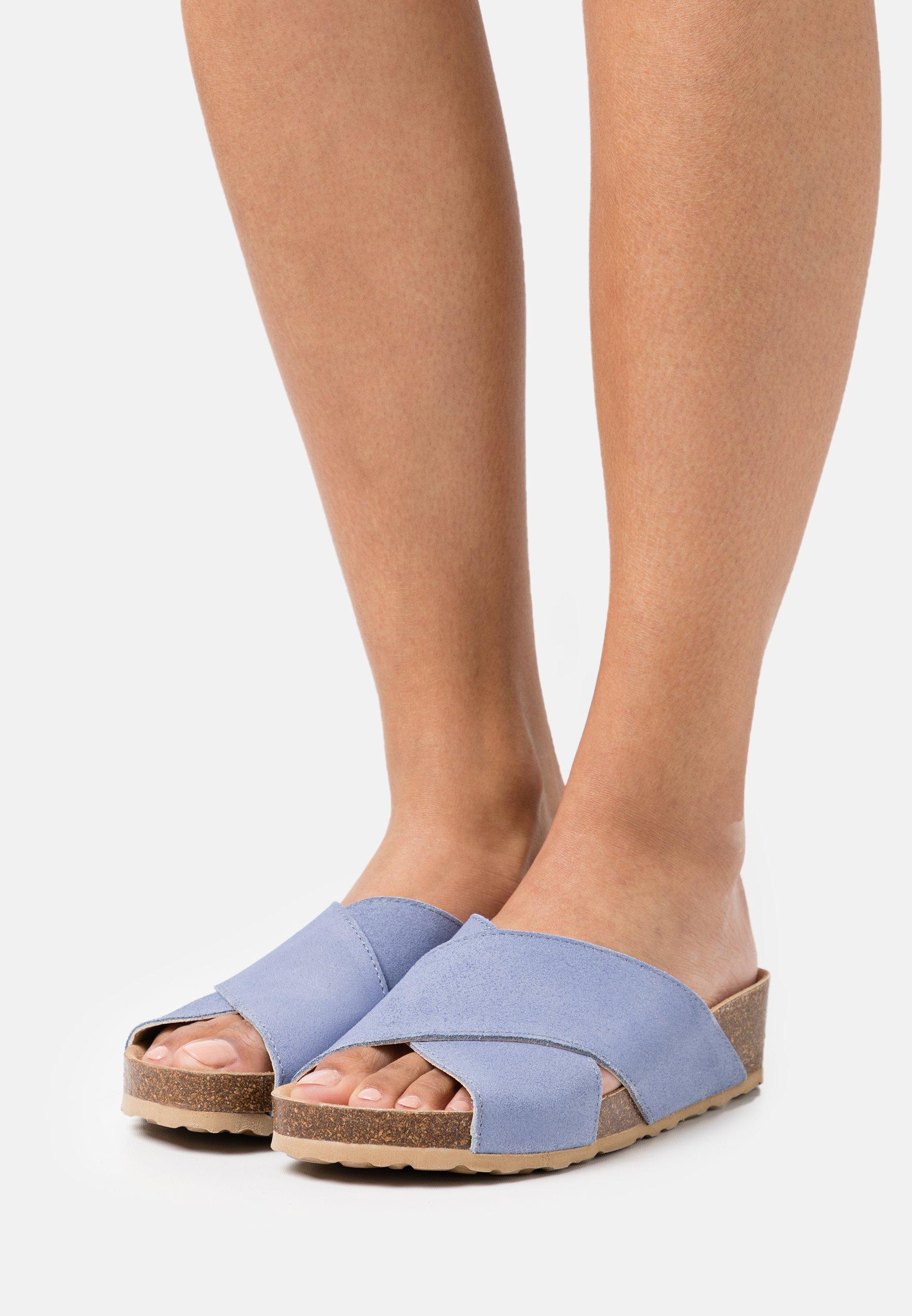 Women BIABETTY CROSS  - Mules - light blue