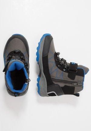 PELLE - Winter boots - grau/schwarz/blau