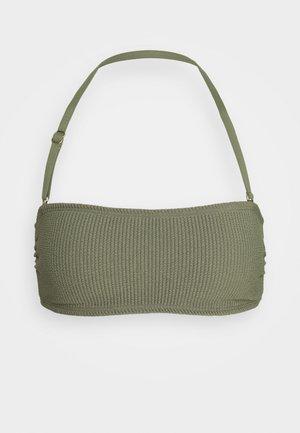 DECADENT TEXTURE BANDEAU - Bikini top - army green