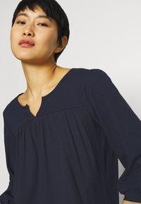 Esprit - FAB MIX TEE - Bluzka z długim rękawem - dark blue - 3