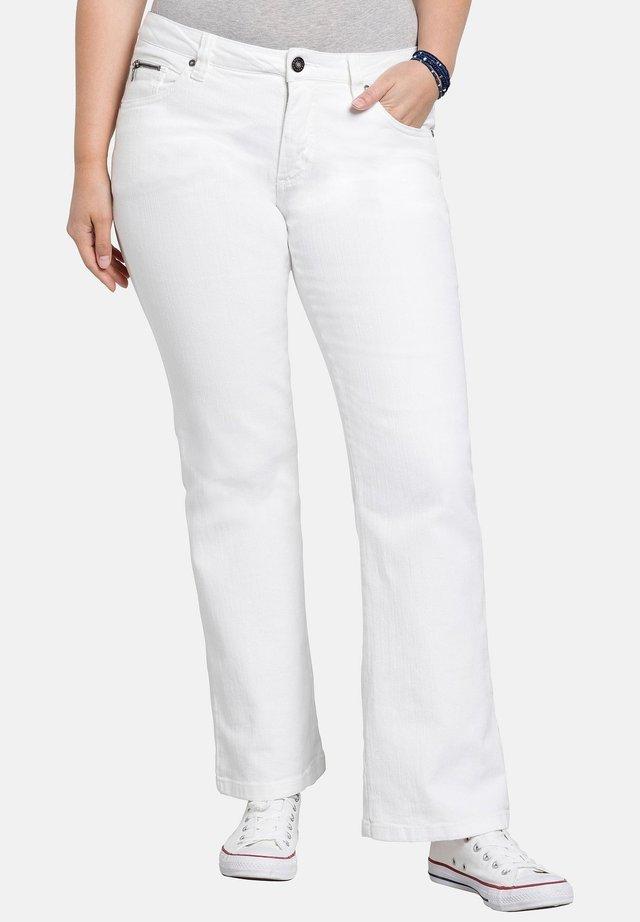 Jeans a zampa - white denim