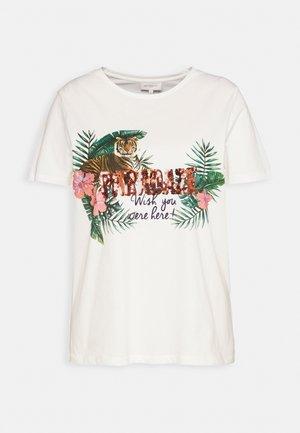 CARJUNGLE TEE - Print T-shirt - white