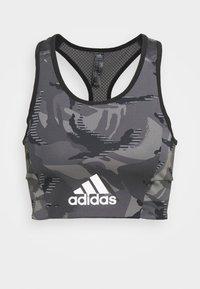 CAMO - Light support sports bra - black/white