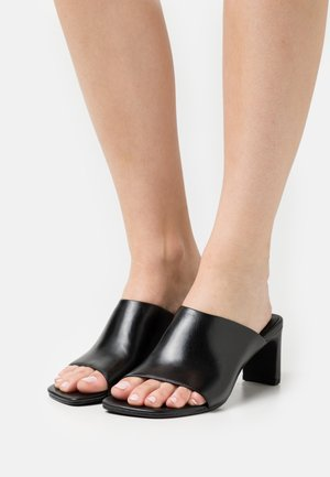 LUISA - Heeled mules - black