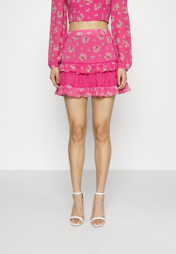 RUFFLE SKIRTS - Mini skirt - pink