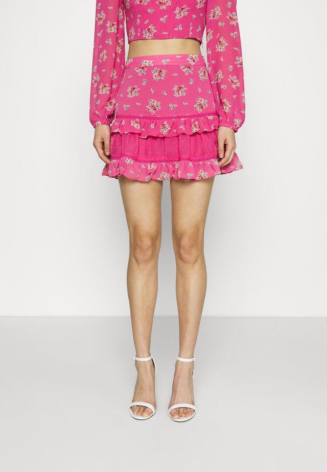RUFFLE SKIRTS - Minifalda - pink