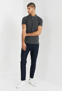Marc O'Polo - SHORT SLEEVE RIB DETAILS - Polo shirt - pirate black - 1