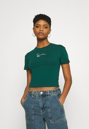 SMALL SIGNATURE SHORT TEE - Basic T-shirt - green