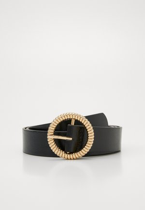 PCWANDY BELT - Pásek - black/gold-coloured