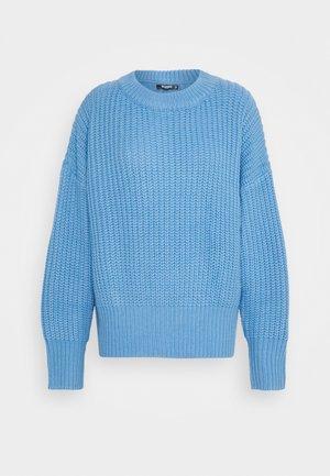 BASIC CHUNKY CREW NECK JUMPER - Maglione - blue