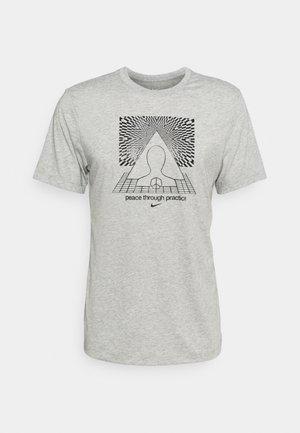 TEE YOGA - T-shirt print - dark grey heather