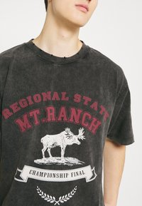 Jaded London - WASHED REGIONAL STATE - T-shirt con stampa - black - 5
