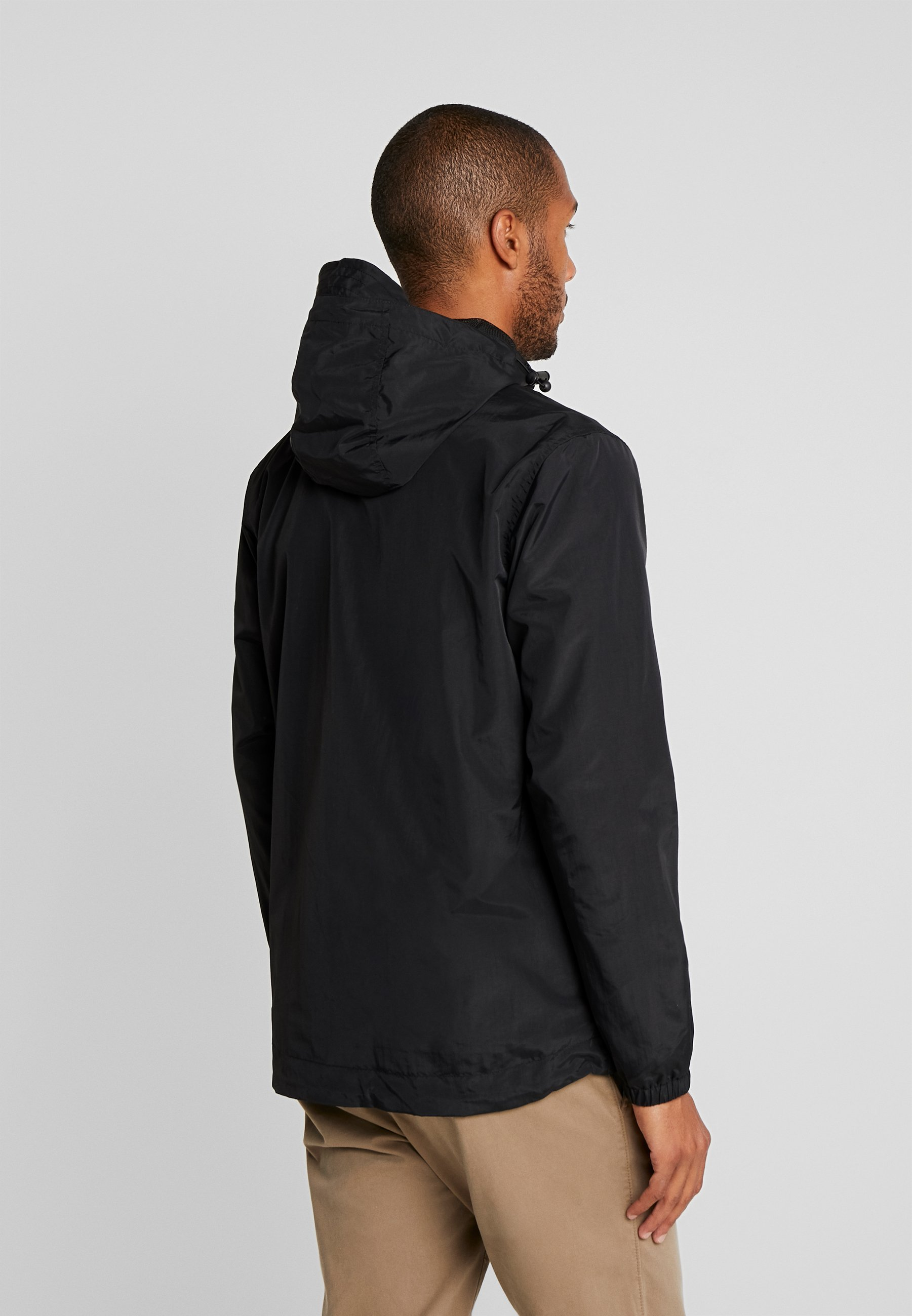 ZIP THROUGH HOODED JACKET Tunn jacka jet black