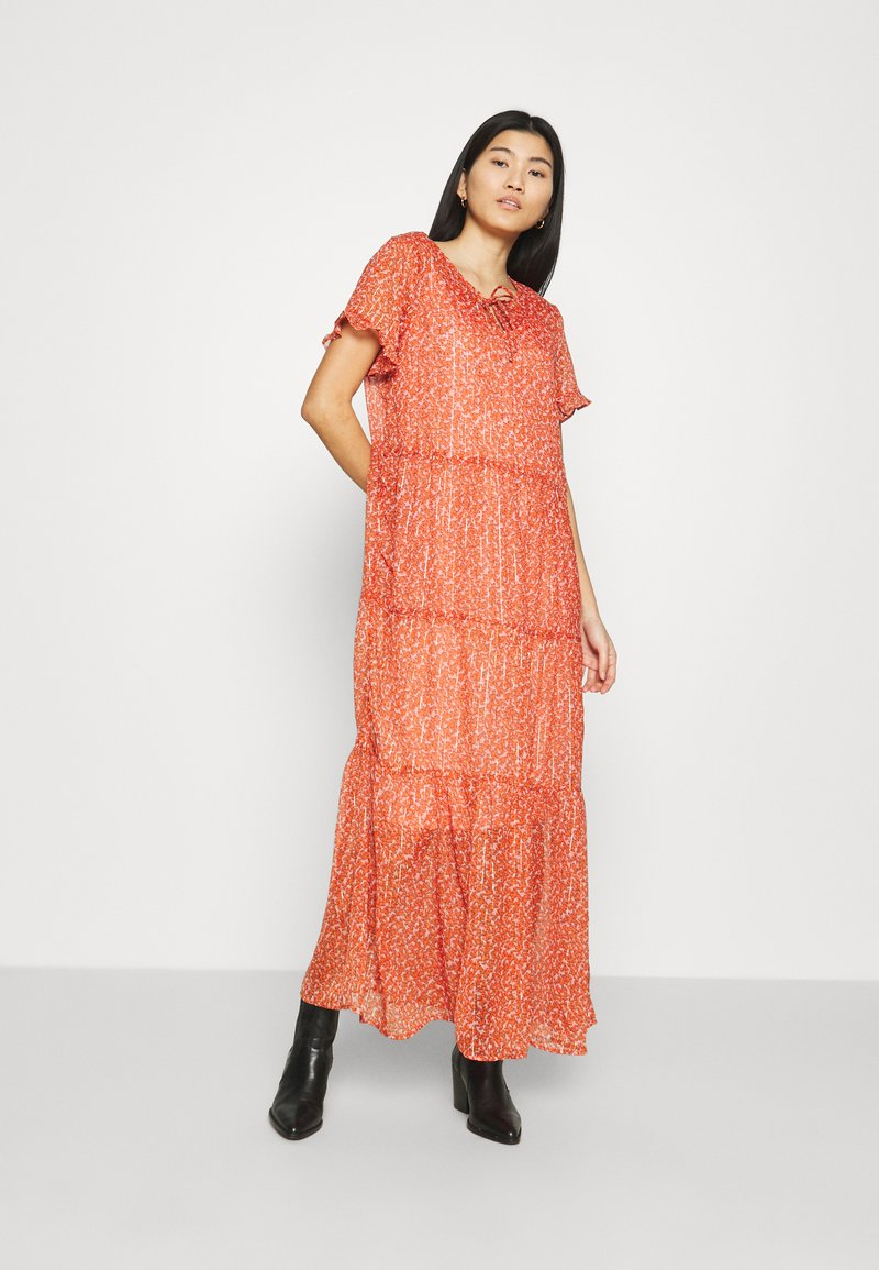 Saint Tropez - XELINASZ DRESS - Maxi dress - red orange puff sky