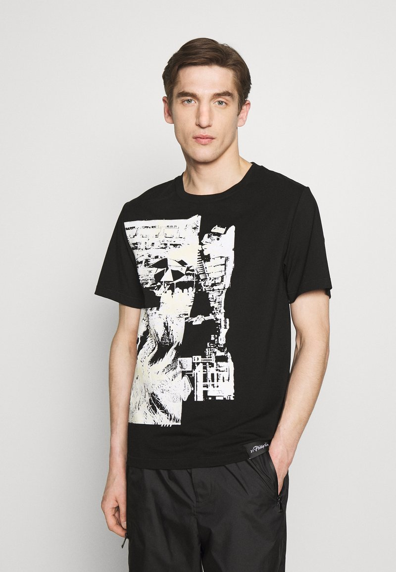 3.1 Phillip Lim - POSTCARD PERFECT TEE - T-shirt con stampa - black