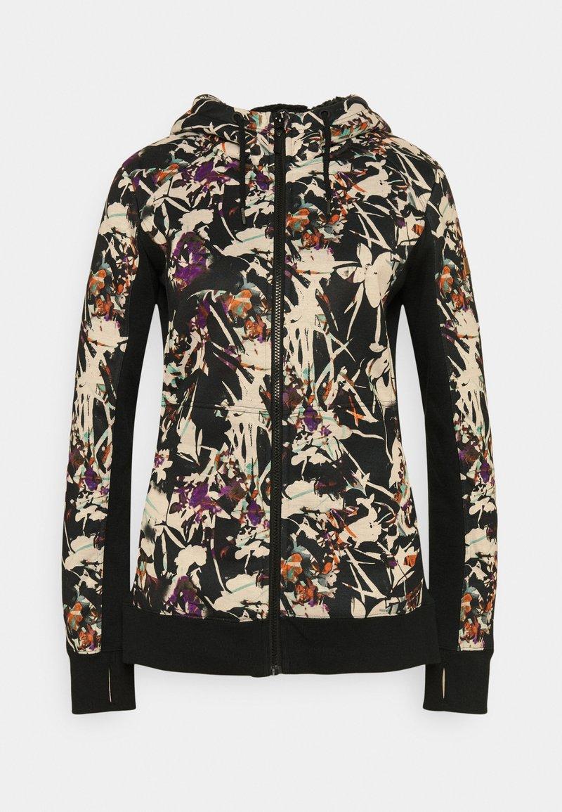 Roxy - FROST PRINTED - Zip-up sweatshirt - true black