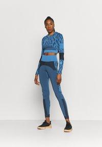 adidas by Stella McCartney - Top sdlouhým rukávem - blue/black - 1