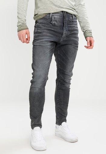 D-STAQ 3D SUPER SLIM - Jeans Skinny Fit - loomer grey rop superstretch