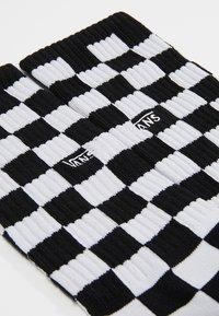 Vans - UA CHECKERBOARD CREW II (6.5-9, 1PK) - Sokken - black/white - 2