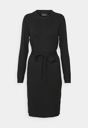 PCCAVA O NECK DRESS - Jumper dress - black