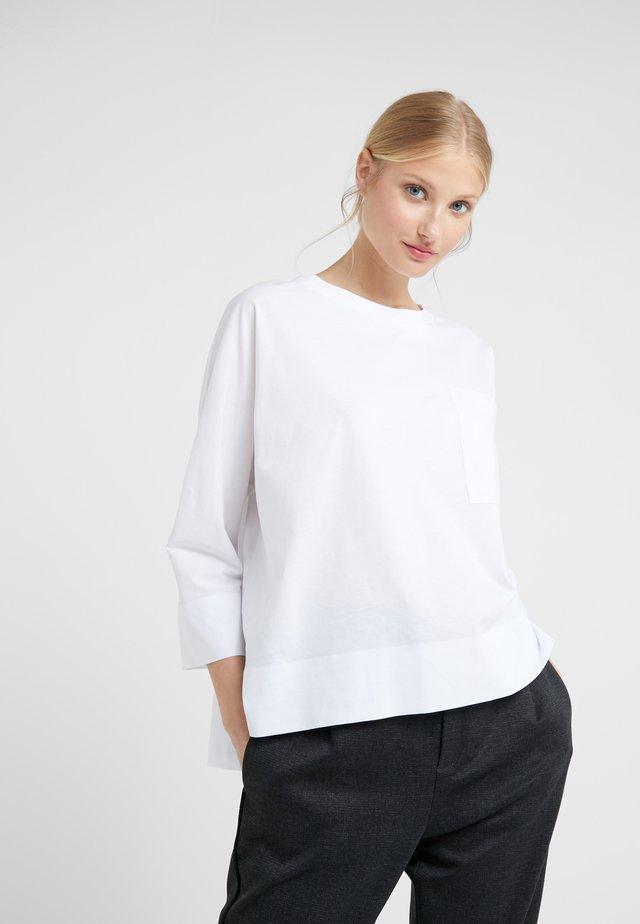 KAORI - Top sdlouhým rukávem - white
