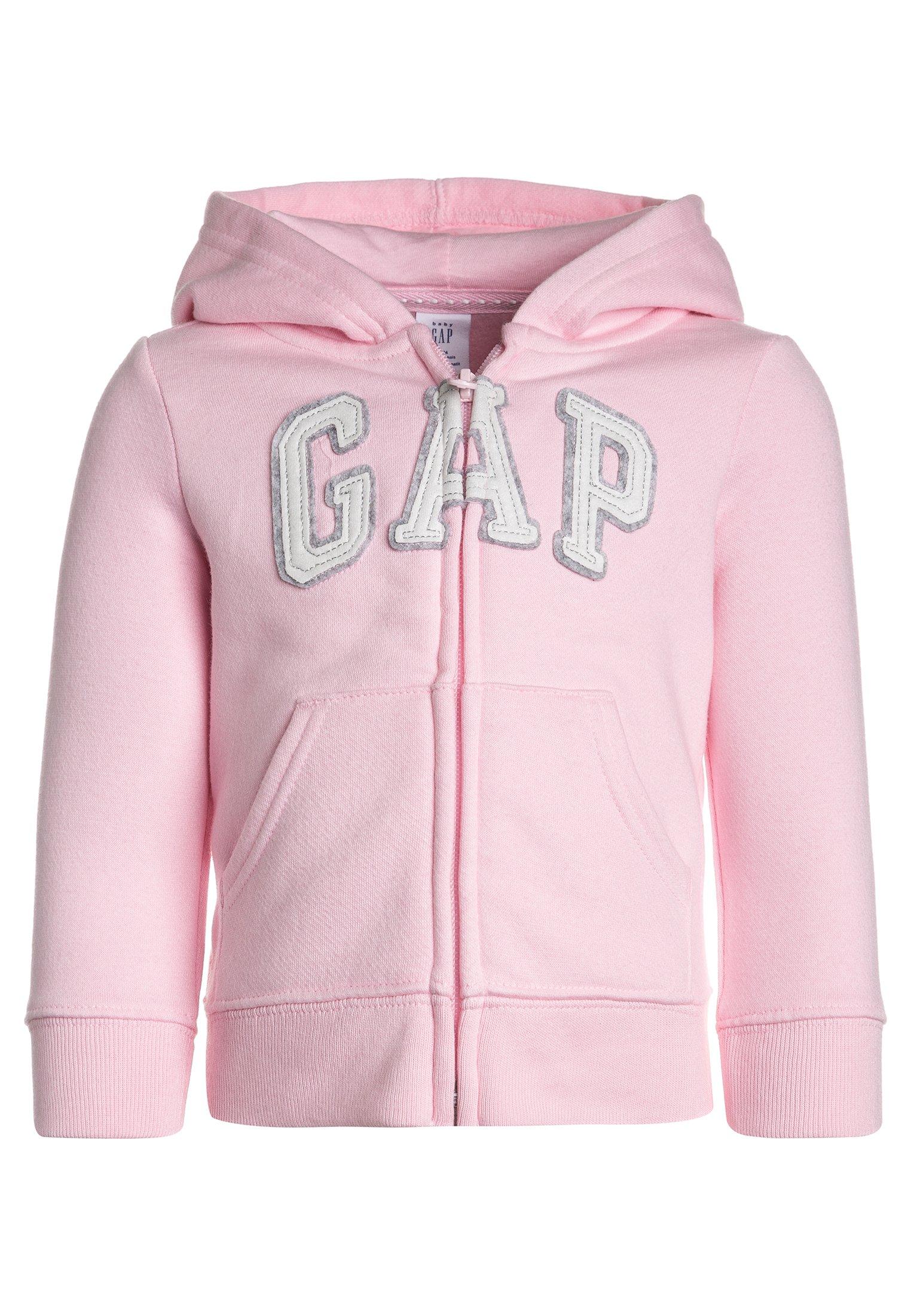 Blue//Pink//White Size 3 Girl/'s Toddler GAP Logo Zip Hoodie