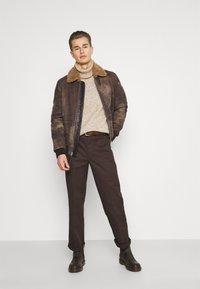 Schott - LCDAKOTA - Leather jacket - brown - 1