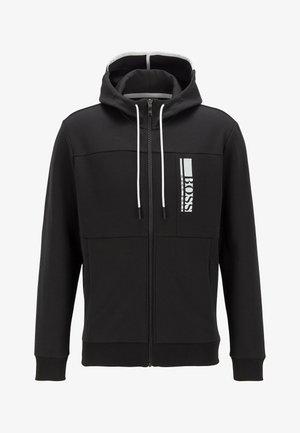 SAGGY - veste en sweat zippée - black