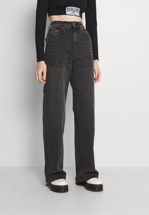 ONLHOPEEX HIGH WIDE LEG  - Bootcut jeans - black denim