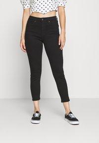 Topshop Petite - JAMIE CLEAN - Jeansy Skinny Fit - black - 0