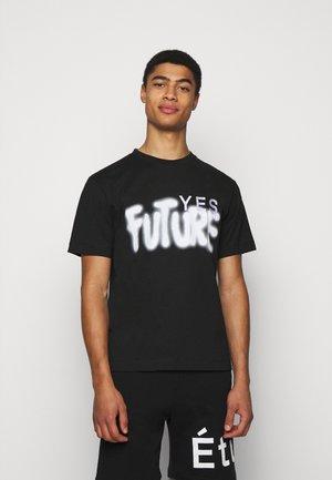 YES FUTURE UNISEX - Printtipaita - black