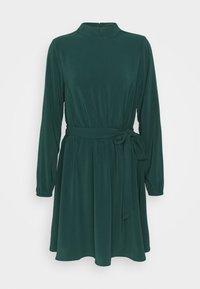 Vila - VIGORA TIE BELT HIGHNECK DRESS - Day dress - pine grove - 0