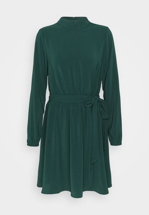 VIGORA TIE BELT HIGHNECK DRESS - Day dress - pine grove
