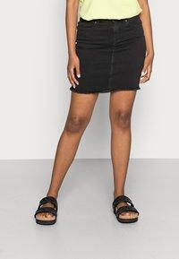 Pieces - PCAIA SKIRT  - Pencil skirt - black denim - 0