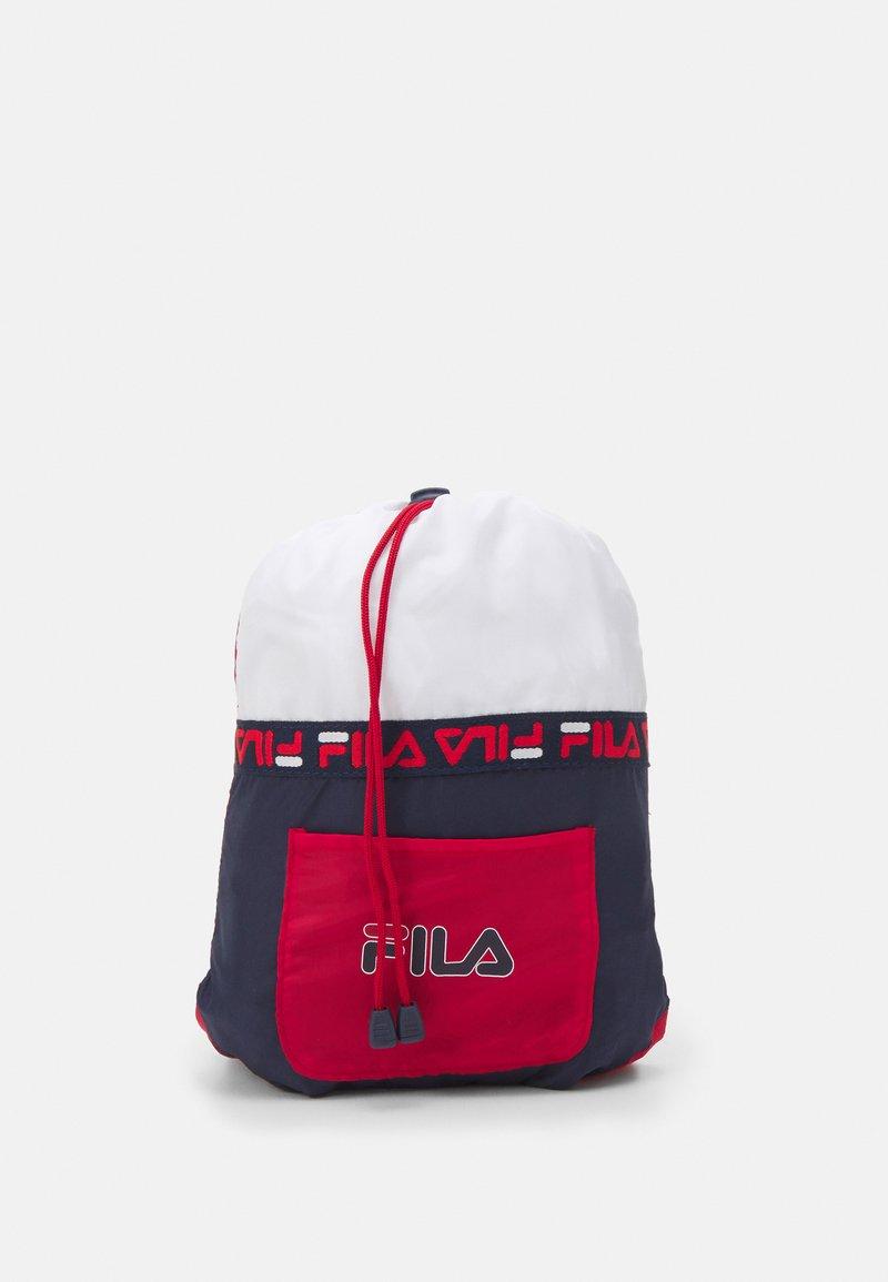 Fila - SOFT DRAWSTRING BACKPACK UNISEX - Sports bag - black iris/true red/bright white