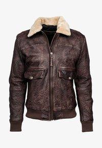 Freaky Nation - Leather jacket - dark brown - 4