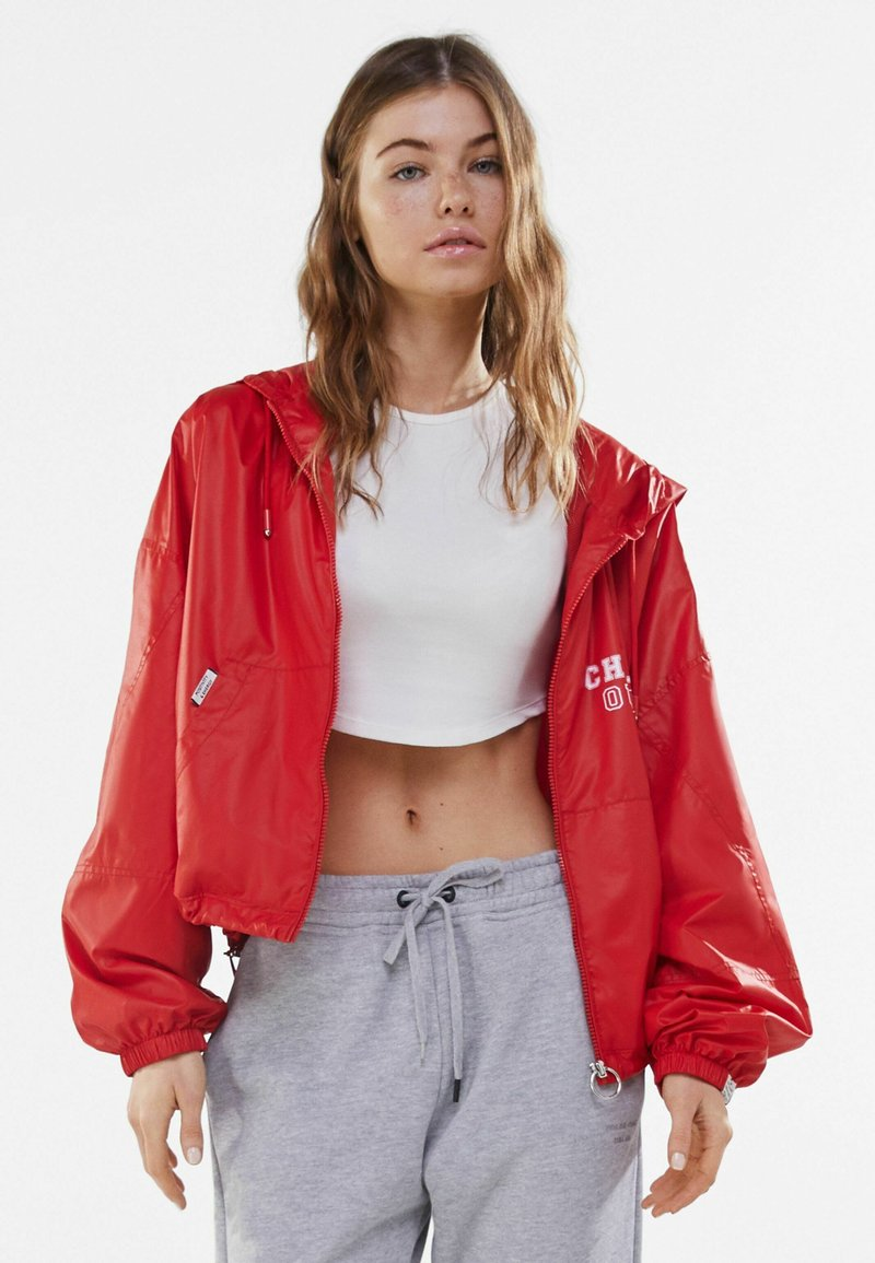 Bershka - Light jacket - red