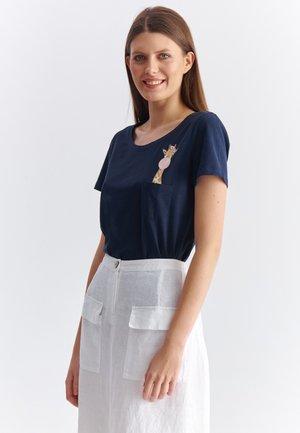 STENA - T-shirt print - navy blue