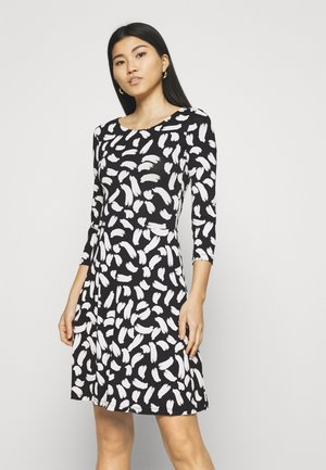 Jersey dress - black/white