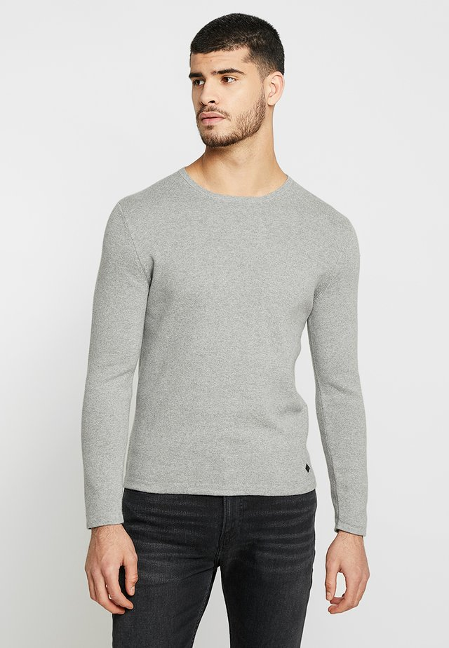 Svetr - light grey melange