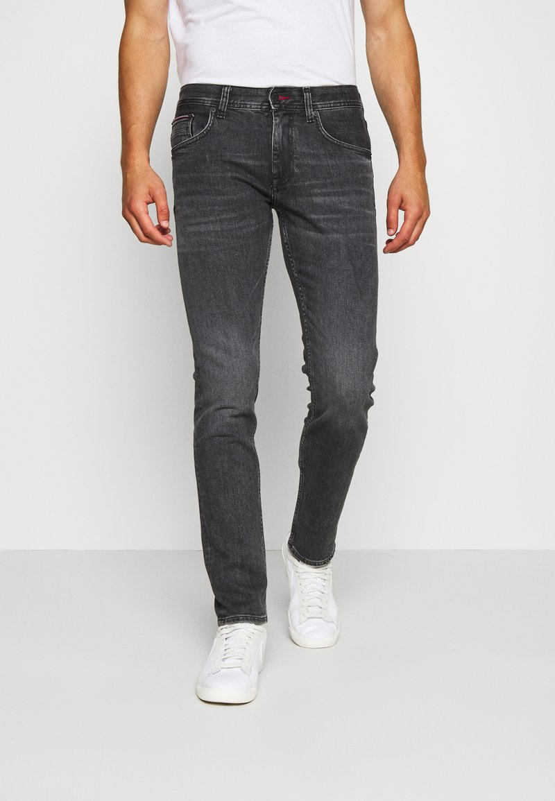 Tommy Hilfiger - SLIM BLEECKER AGAR  - Slim fit jeans - black denim
