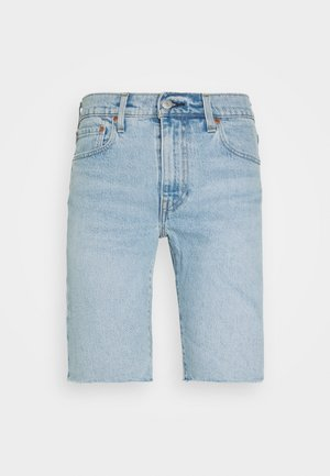 SLIM SHORT - Džínové kraťasy - light-blue denim