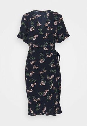 VMSAGA WRAP DRESS - Vestido informal - navy blazer/nellie
