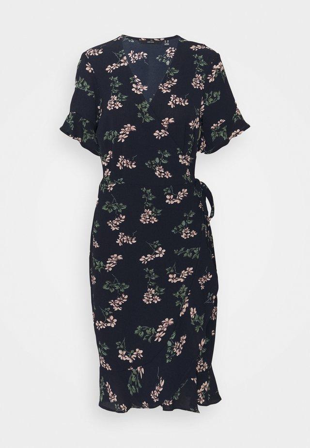 VMSAGA WRAP DRESS - Day dress - navy blazer/nellie