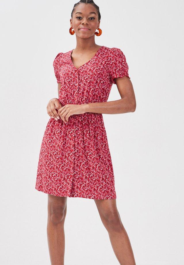 Korte jurk - rouge