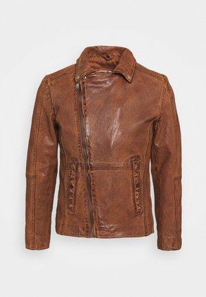 COOL RACE - Kožená bunda - cognac