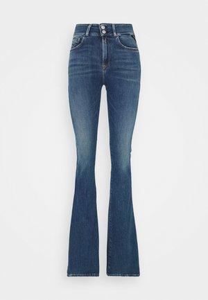 NEW LUZ PANTS - Flared Jeans - medium blue
